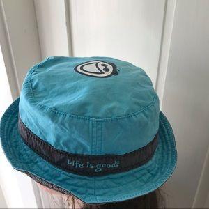 Life is good bucket sun hat for kids